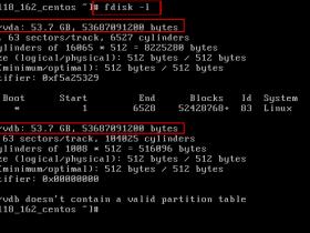 centos6分区与格式化数据盘、挂载磁盘的方法