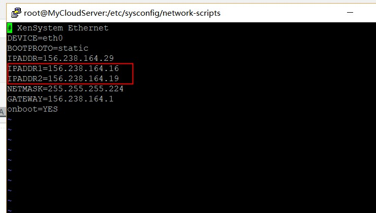 CENTOS7单网卡配置增加多个IP地址