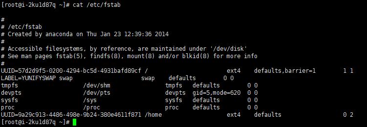 Linux 服务器永久挂载(mount)分区